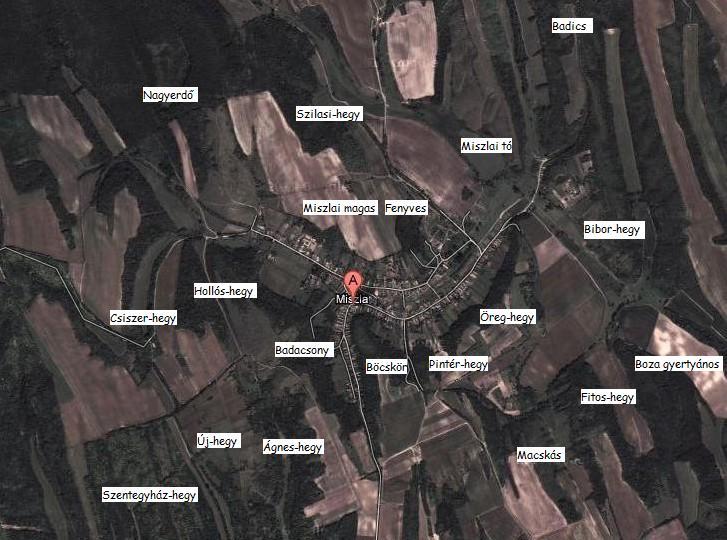 dűlőtérkép